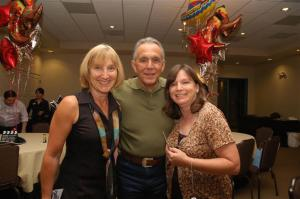 Rudy Ramas with fans, Sisters, JJ and Liz at a recent High Chaparral Reunion. Courtesy of The High Chaparral Reunion page on Facebook